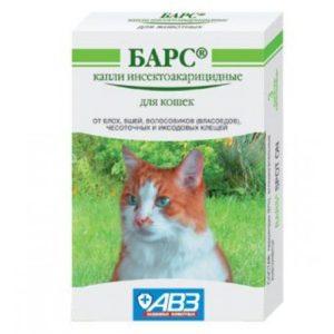 Как использовать капли Барс для кошек