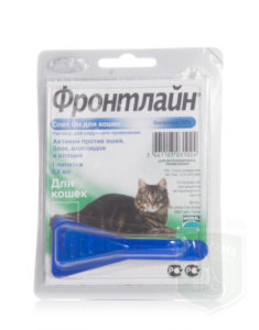 Как приманять Фронтлайн для кошек