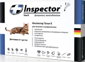 Инспектор - капли для кошек- инструкция по применению, аналоги, состав